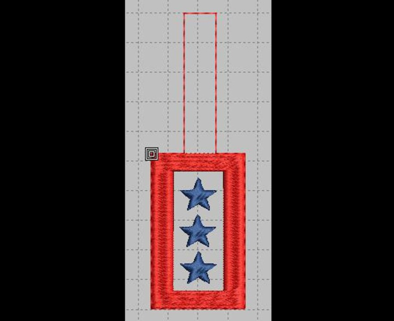 Military Key Fob Machine Embroidery Designs