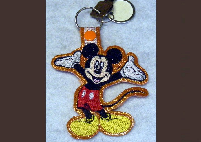 Mouse Key Fob Machine Embroidery Pattern