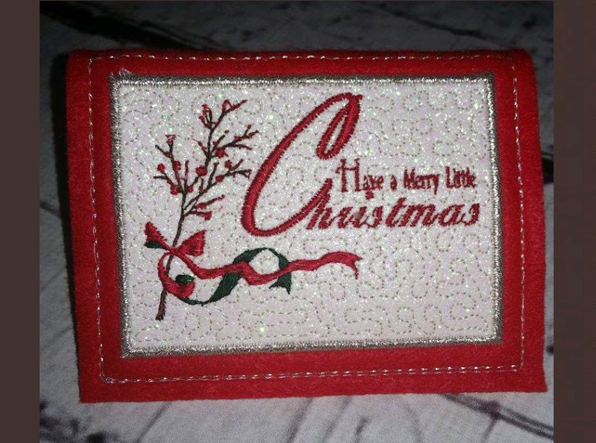 Have a merry little christmas greeting card in the hoop