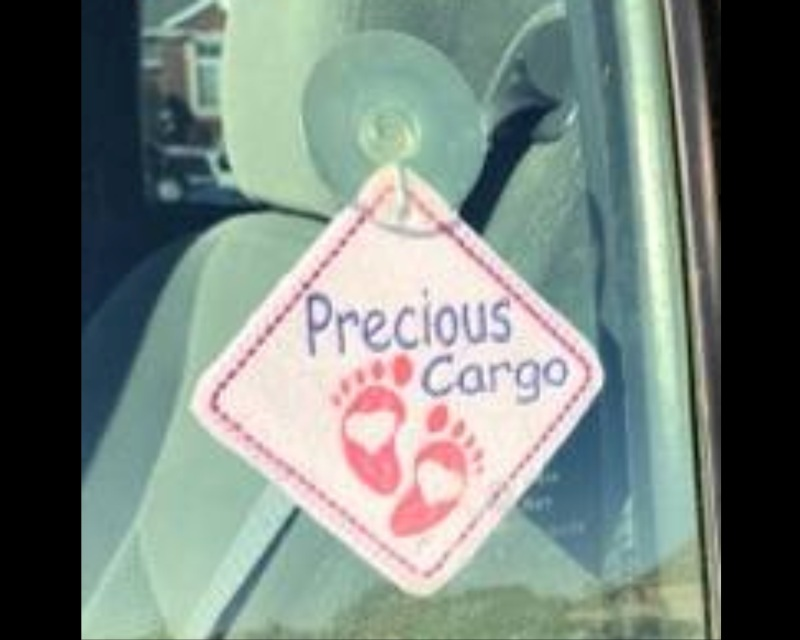 Precious Cargo Car Sign Machine Embroidery Pattern